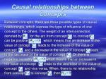 causal relationships between concepts