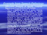 example from speech pathology