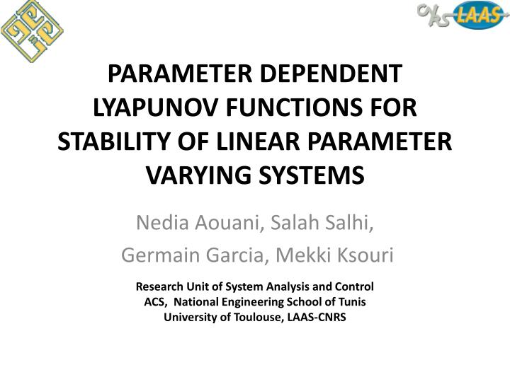 liapunov functions and stability in control