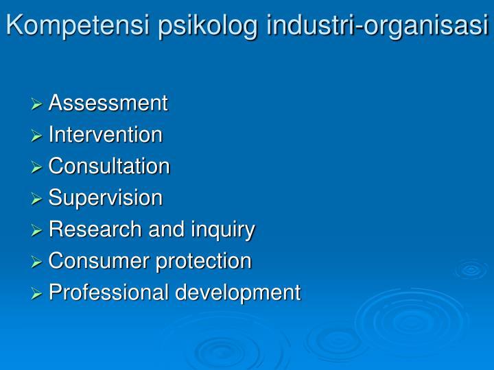 Kompetensi psikolog industri-organisasi