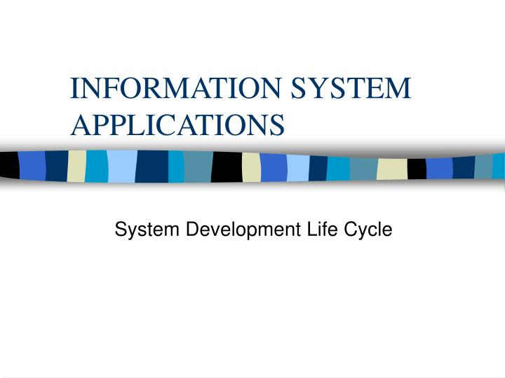 information system applications n.