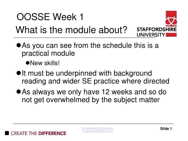What is the module about