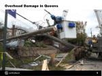 overhead damage in queens