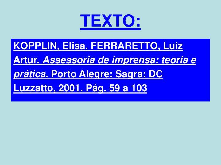 TEXTO: