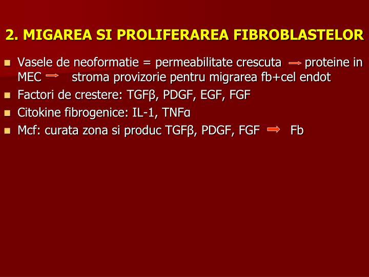 2. MIGAREA SI PROLIFERAREA FIBROBLASTELOR