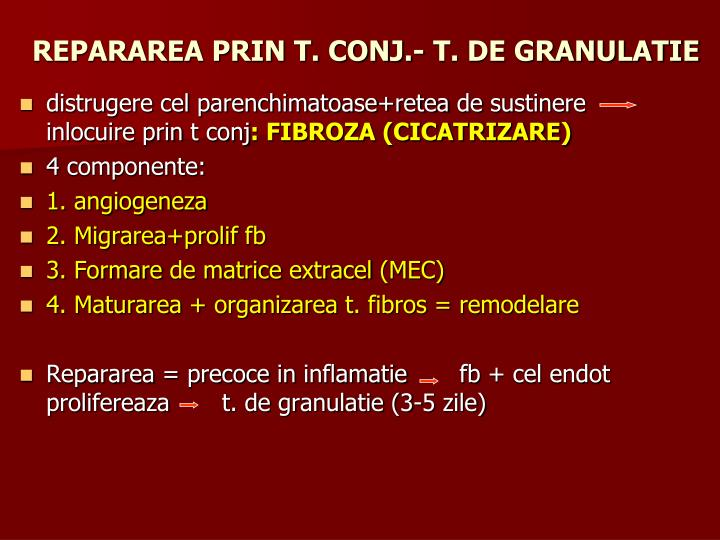 REPARAREA PRIN T. CONJ.- T. DE GRANULATIE