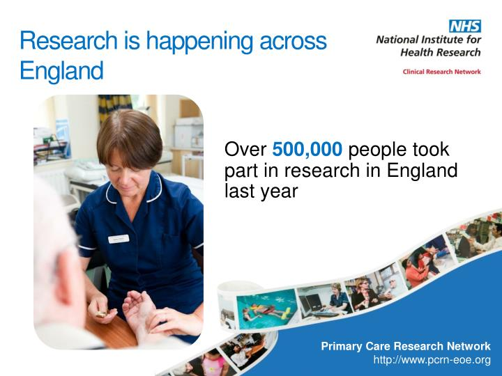 Over 500 000 people took part in research in england last year