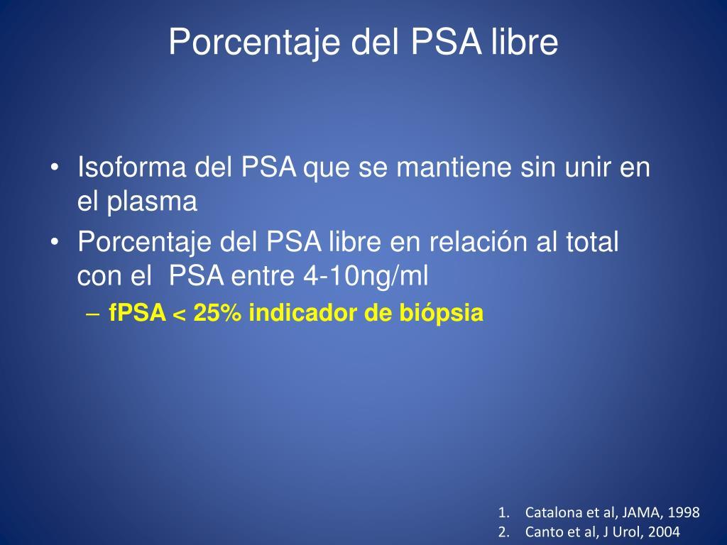 antigeno prostatico total y libre diferencial