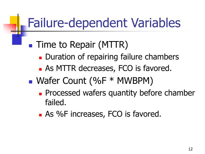 Failure-dependent Variables