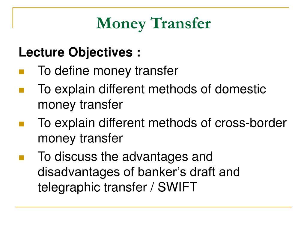 Money Transfer Point Ppt Presentation