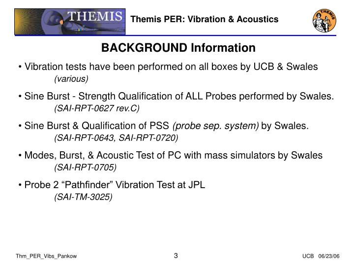 Themis PER: Vibration & Acoustics
