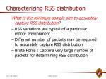characterizing rss distribution1