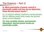 the essence part ii