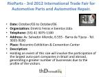 rioparts 3rd 2012 international trade fair for automotive parts and automotive repair