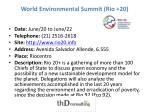 world environmental summit rio 20