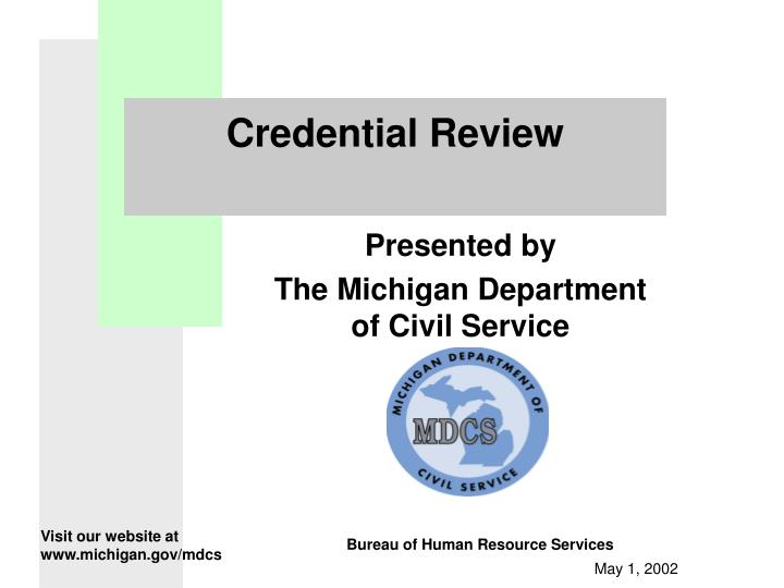 Credential Review