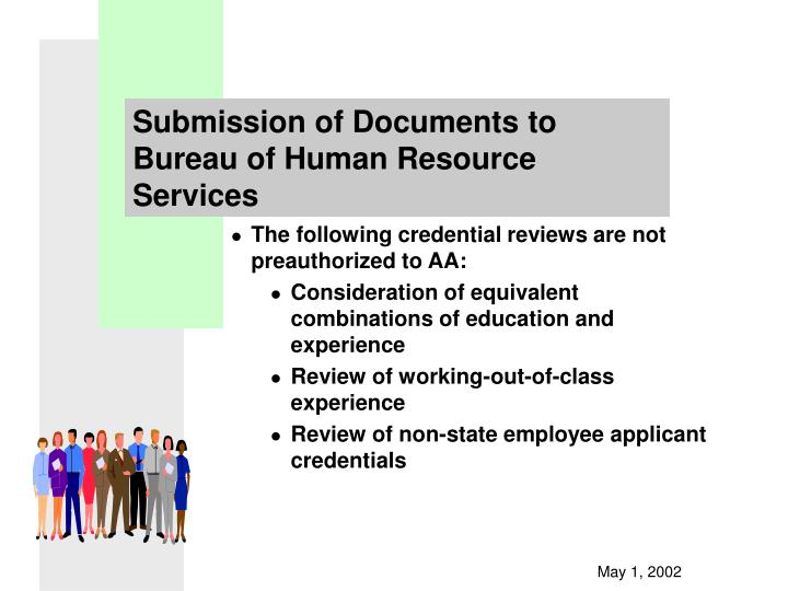Submission of Documents to Bureau of Human Resource Services