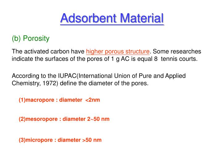 Adsorbent Material