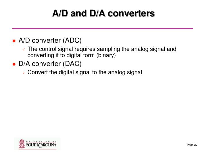 A/D and D/A converters