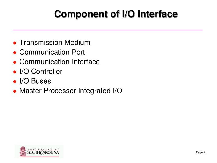 Component of I/O Interface