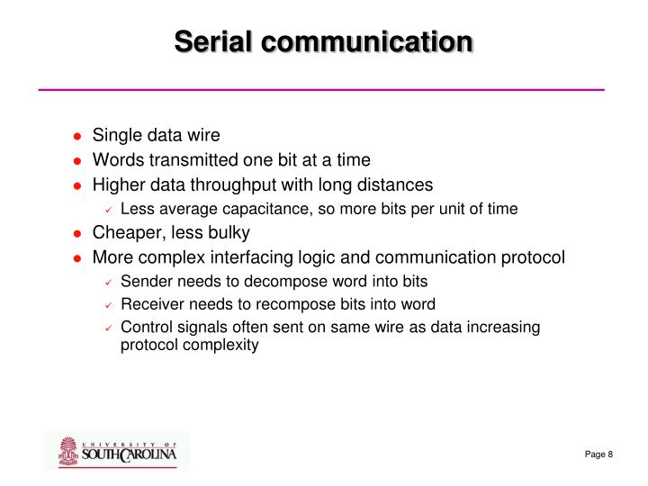 Serial communication