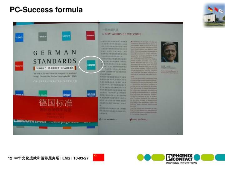 PC-Success formula