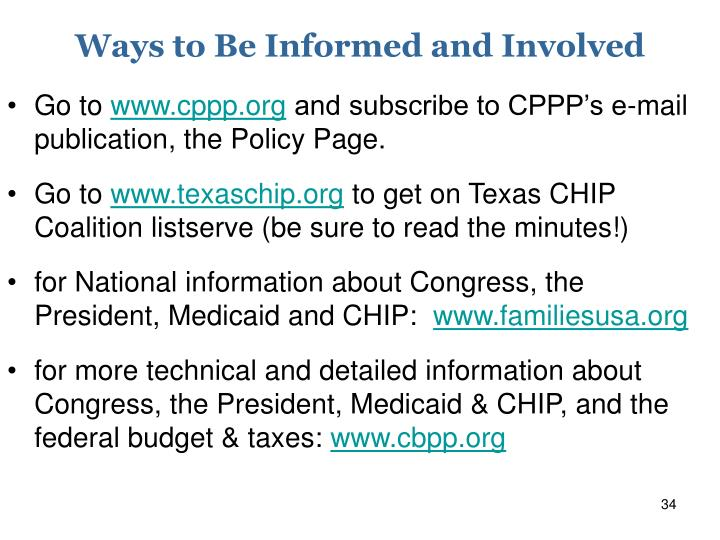 Ways to Be Informed and Involved