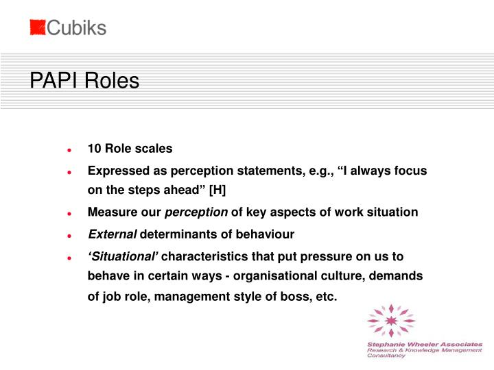 PAPI Roles