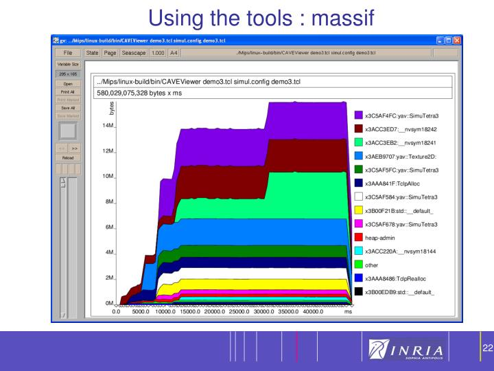Using the tools : massif