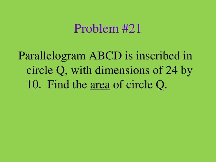 Problem #21