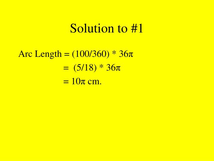 Solution to 1