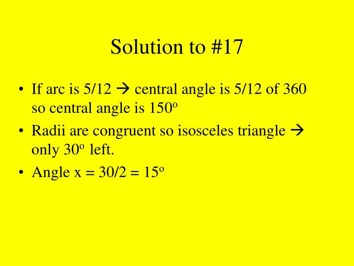 Solution to #17