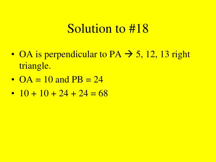 Solution to #18