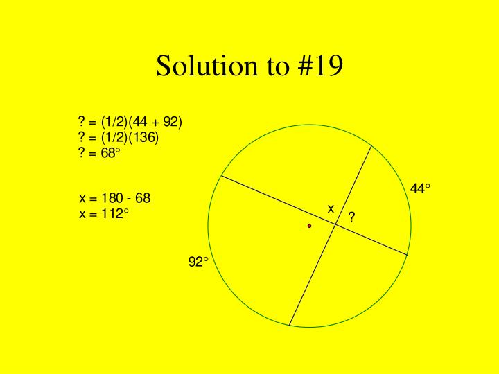 Solution to #19