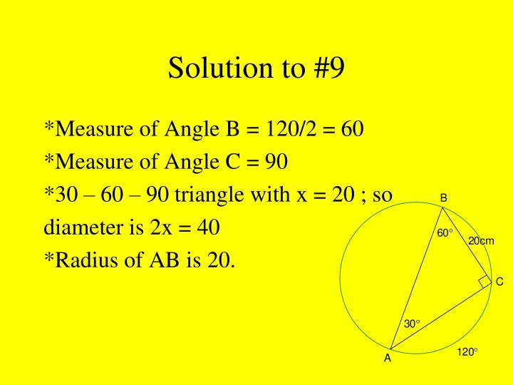 Solution to #9