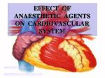 effect of anaesthetic agents on cardiovascular system