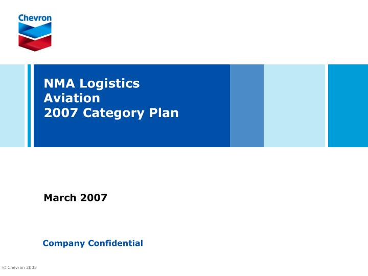 nma logistics aviation 2007 category plan n.