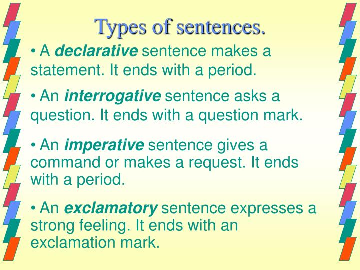 types of sentences 2012 13