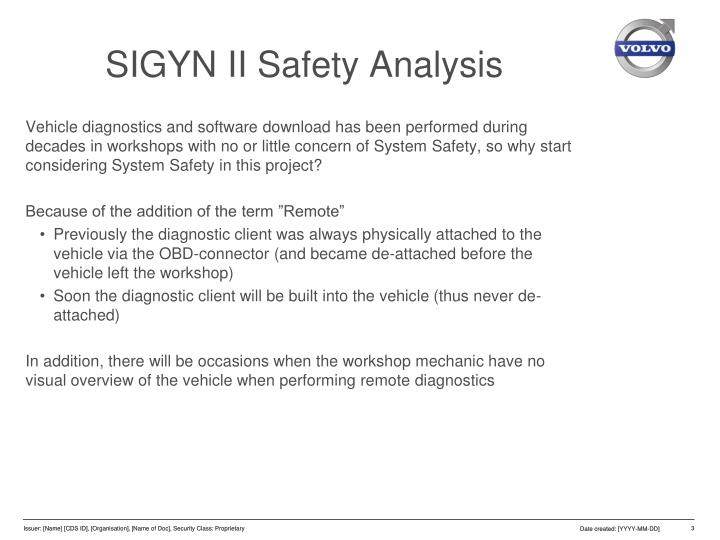 Sigyn ii safety analysis