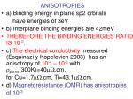 anisotropies
