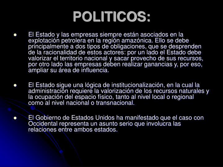 POLITICOS: