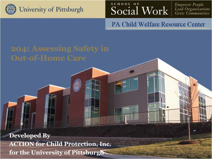 204 assessing safety in out of home care n.