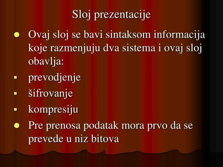 Sloj prezentacije