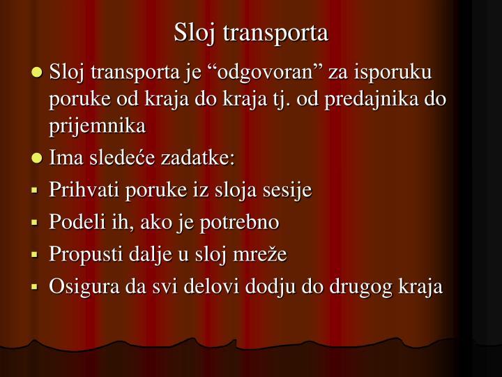 Sloj transporta