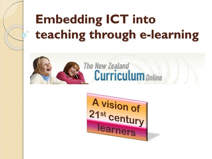 embedding ict into teaching through e learning n.