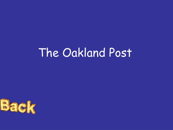 The Oakland Post