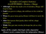 examples of complex sentence aaawwubbis homer marge