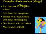 examples of independent marge clauses