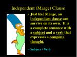 independent marge clause