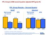 fpl group results second quarter